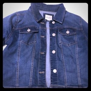 Wax jeans Washed out denim look Jean jacket